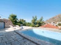 Villa Begonia in Hydra Greece, pool, by Olive Villa Rentals