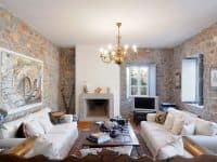 Villa Begonia in Hydra Greece, living room, by Olive Villa Rentals
