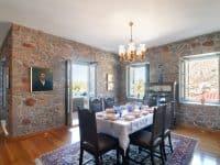Villa Begonia in Hydra Greece, dining room, by Olive Villa Rentals