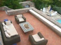 Villa Begonia in Hydra Greece, terrace, by Olive Villa Rentals