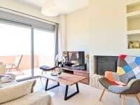 Villa Selene in Aegina, living room, by Olive Villa Rentals