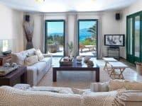 Villa Anais in Porto Heli, living room, by Olive Villa Rentals