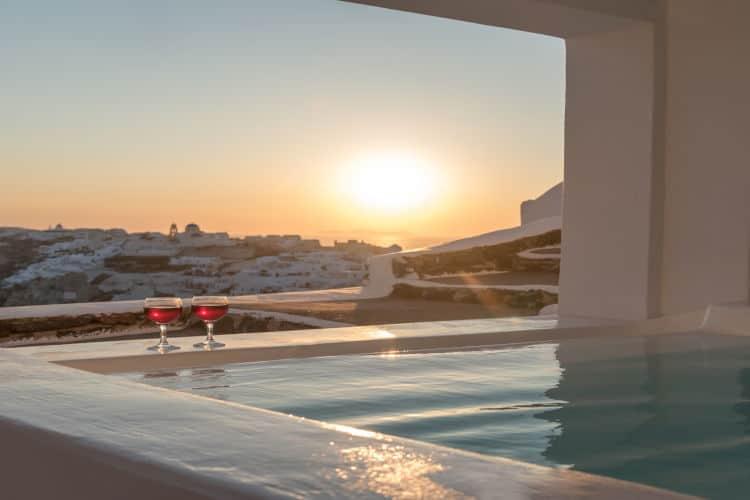 Casa-Bianca-Olive-Villa-Rentals-Santorini-sunset