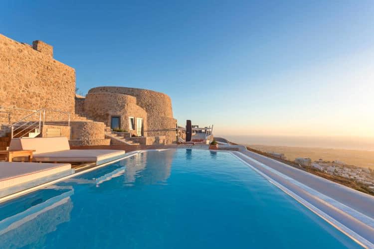 Villa-Penelope-Olive Villa Rentals - Santorini -pool-view-