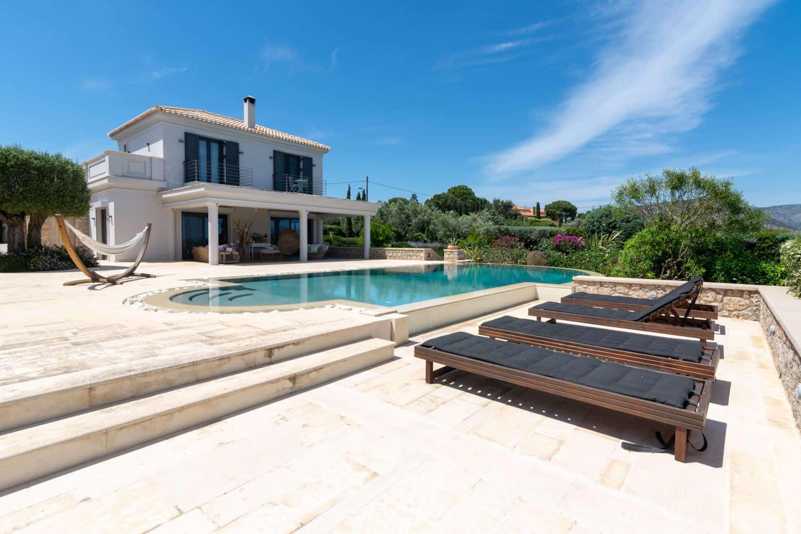 Villa-Camille-Porto Heli-by-Olive-Villa-Rentals-pool-area-exterior