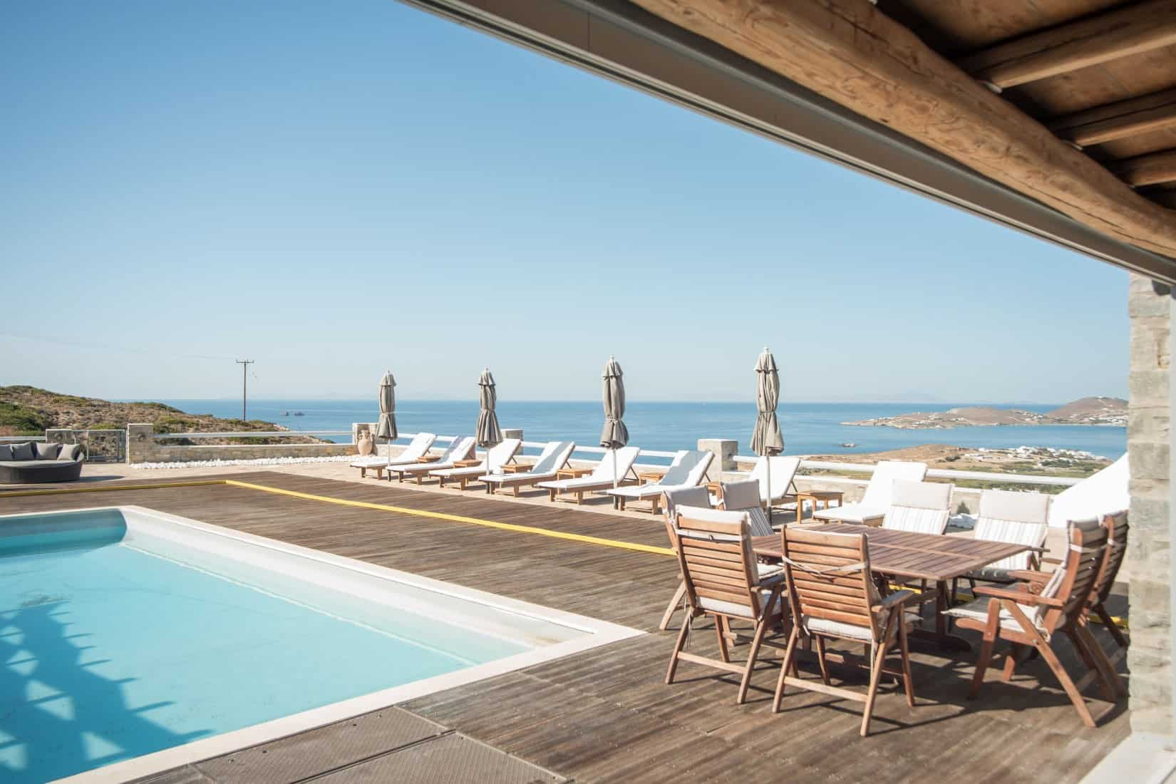 Villa- Coco White -Paros-by-Olive-Villa-Rentals-exterior-pool-area