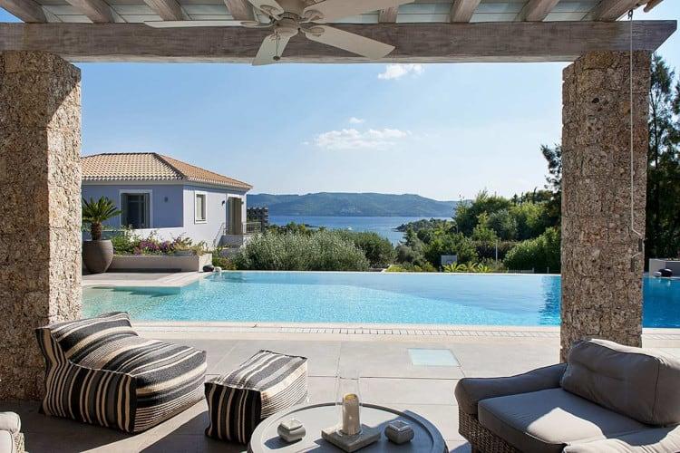 Villa- Cilegia-Porto Heli-by-Olive-Villa-Rentals-pool-area
