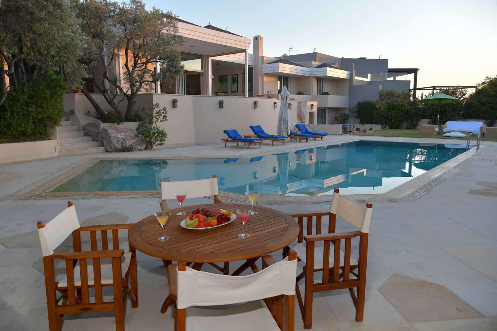 Villa- Lenora -Athens-by-Olive-Villa-Rentals-pool-area