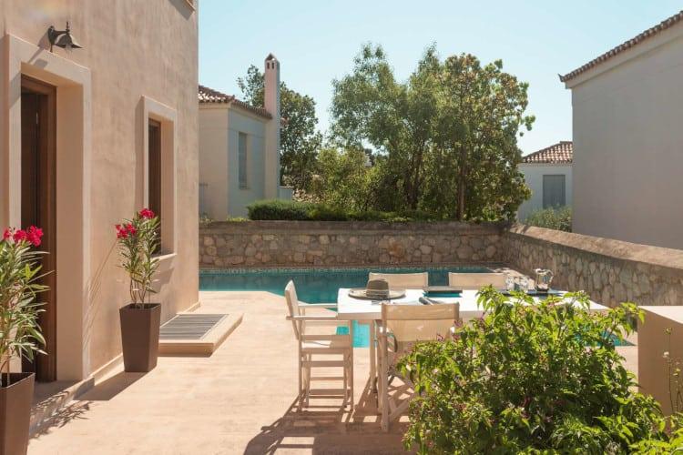 small-Villa- Blossom-Spetses-by-Olive-Villa-Rentals-exterior-dining-area