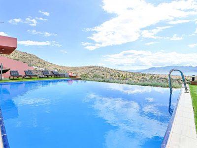 Sunset Villas in Aegina, pool, by Olive Villa Rentals