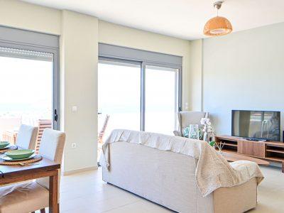 Villa Cybele in Aegina, living room, by Olive Villa Rentals