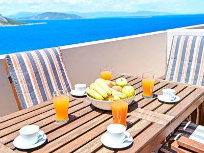 Villa Cybele in Aegina, balcony, by Olive Villa Rentals