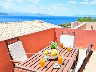 Villa Selene in Aegina, balcony, by Olive Villa Rentals