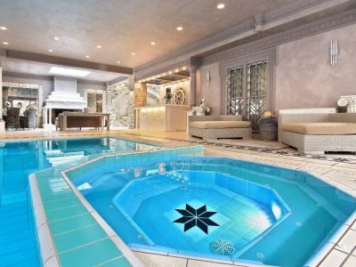 Villa Aristi in Athens, indoor swimming pool, by Olive Villa Rentals