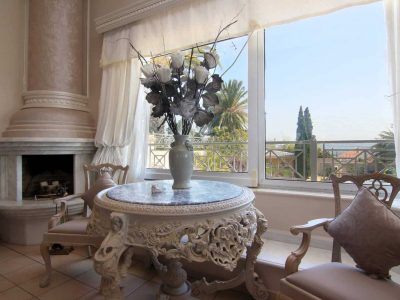Villa Aristi in Athens, indoor living room, by Olive Villa Rentals