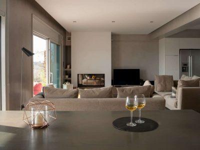 Villa Soledad in Athens, living room, by Olive Villa Rentals