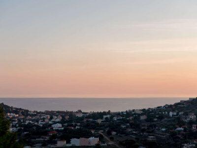 Villa Soledad in Athens, sunset, by Olive Villa Rentals
