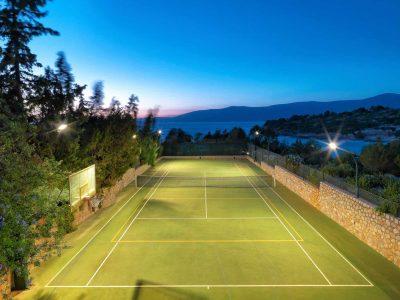 Villa Anais in Porto Heli, tennis court, by Olive Villa Rentals