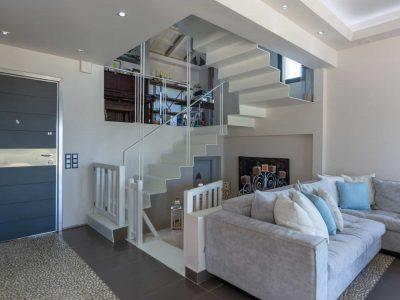 Villa Camille in Porto Heli, living room, by Olive Villa Rentals