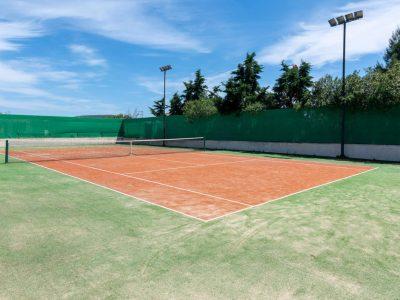 Villa Camille in Porto Heli, tennis court, by Olive Villa Rentals