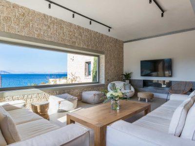 Villa Estee in Porto Heli, living room, by Olive Villa Rentals