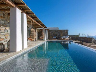 Villa Luna in Tinos, swimming pool, by Olive Villa Rentals