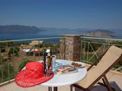 Villa Carmina in Aaegina, balcony, by Olive Villa Rentals