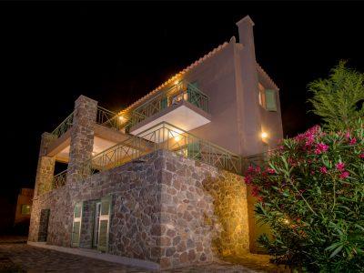Villa Carmina in Aaegina, facade, by Olive Villa Rentals