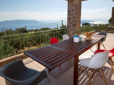 Villa Cerise in Aaegina, blcony, by Olive Villa Rentals