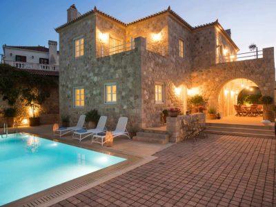 Villa- Arte-Spetses-by-Olive-Villa-Rentals-exterior-area-night