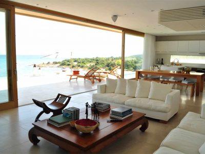 Villa Azzuro in Aegina Greece, living room, by Olive Villa Rentals