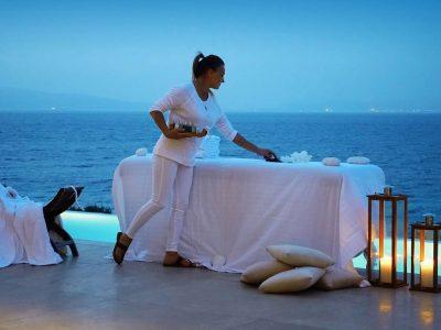 Villa Azzuro in Aegina Greece, spa treatment, by Olive Villa Rentals