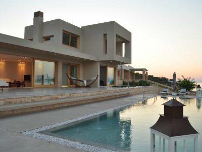 Villa Azzuro in Aegina Greece, pool view, by Olive Villa Rentals
