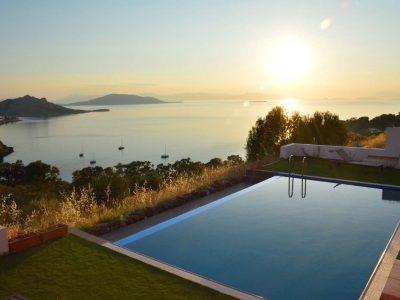 Villa Harmonia in Aegina Greece, pool, by Olive Villa Rentals