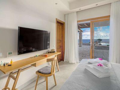 Villa-Helios-Crete-by-Olive-Villa-Rentals-bedroom-TV