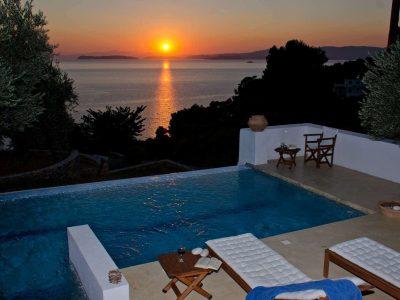 Villa- Cylena -Skopelos-by-Olive-Villa-Rentals-property-a-pool-area-sunset