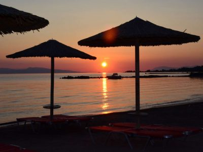 Villa Calypso in Aegina Greece, sunset 3, by Olive Villa Rentals