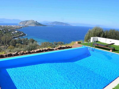 Villa Iris in Aegina Greece, pool, by Olive Villa Rentals