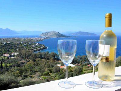 Villa Iris in Aegina Greece, sea view 5, by Olive Villa Rentals