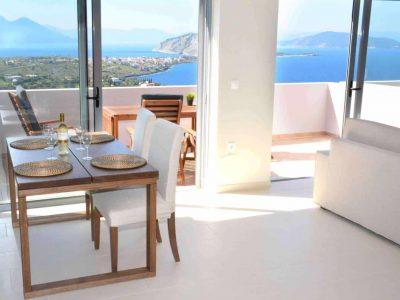 Villa Iris in Aegina Greece, living room 2, by Olive Villa Rentals