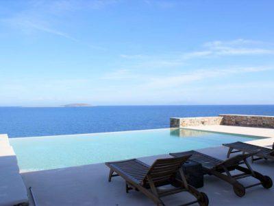 Villa Eurydice in Antiparos Greece, pool, by Olive Villa Rentals
