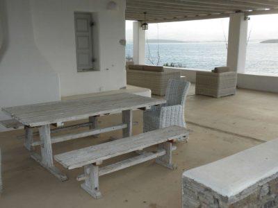 Villa Eurydice in Antiparos Greece, table, by Olive Villa Rentals
