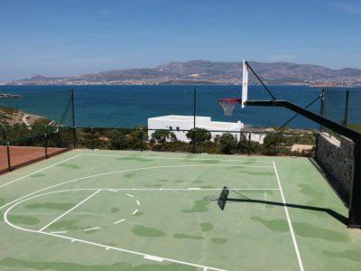 Villa Eurydice in Antiparos Greece, basketball, by Olive Villa Rentals