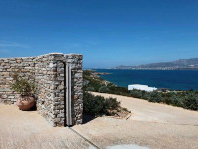Villa Eurydice in Antiparos Greece, entrance 2, by Olive Villa Rentals