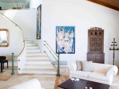 Villa Miltiades in Athens Greece, living room 3, by Olive Villa Rentals