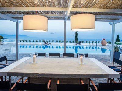 Villa Miltiades in Athens Greece, dining table, by Olive Villa Rentals