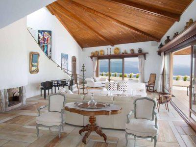 Villa Miltiades in Athens Greece, living room 2, by Olive Villa Rentals