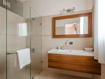 Villa Serenity in Athens Greece, bathroom, by Olive Villa Rentals