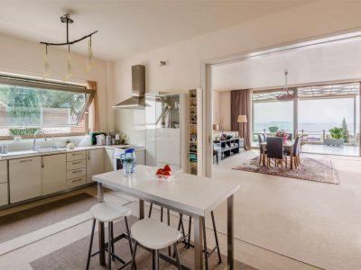 Villa Serenity in Athens Greece, kitchen, by Olive Villa Rentals
