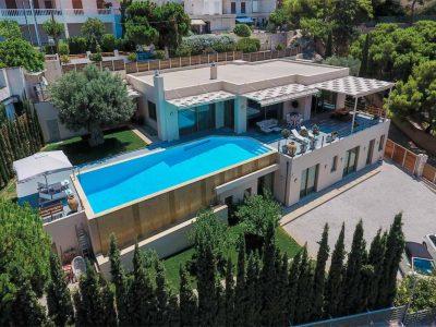 Villa Serenity in Athens000000 Greece, aerial view, by Olive Villa Rentals